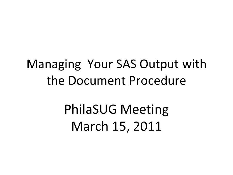 3/15/1122 REPLAYING Output Proc document name=; Replay; Run; Quit;