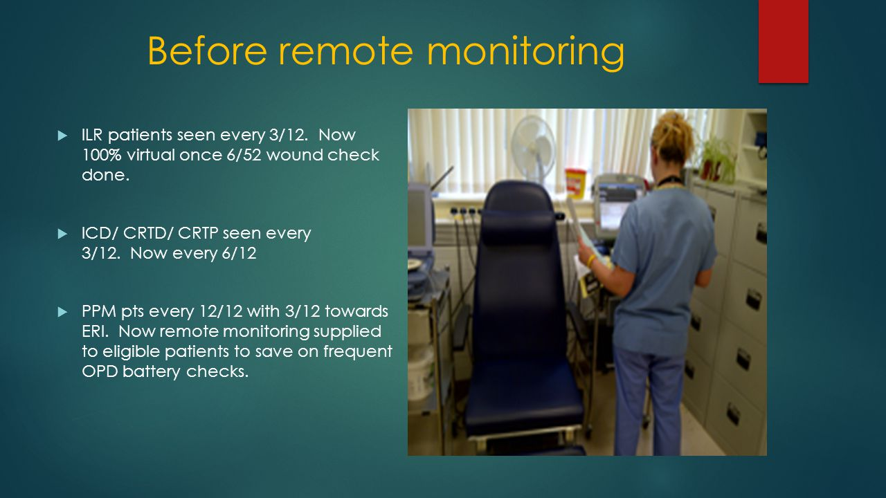 Before remote monitoring  ILR patients seen every 3/12.