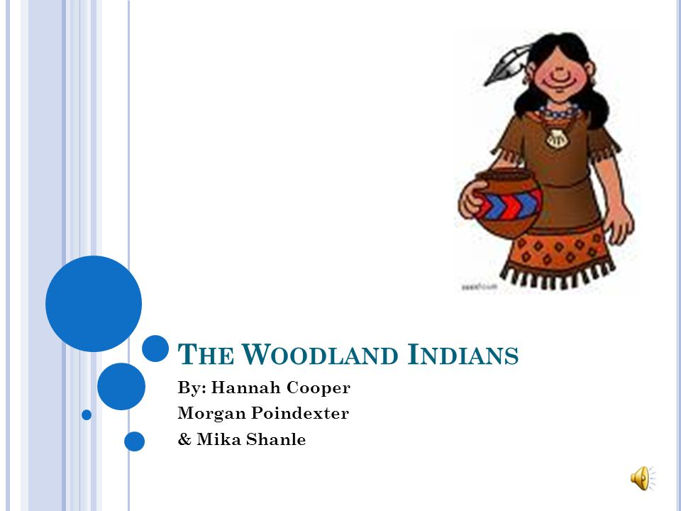 T HE W OODLAND I NDIANS By: Hannah Cooper Morgan Poindexter & Mika Shanle