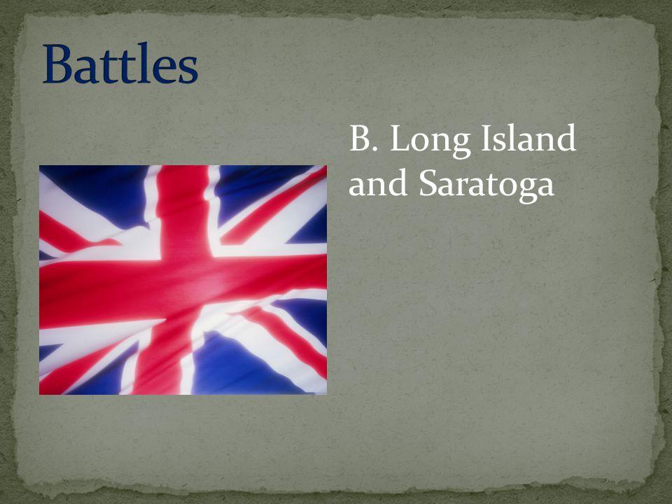 B. Long Island and Saratoga