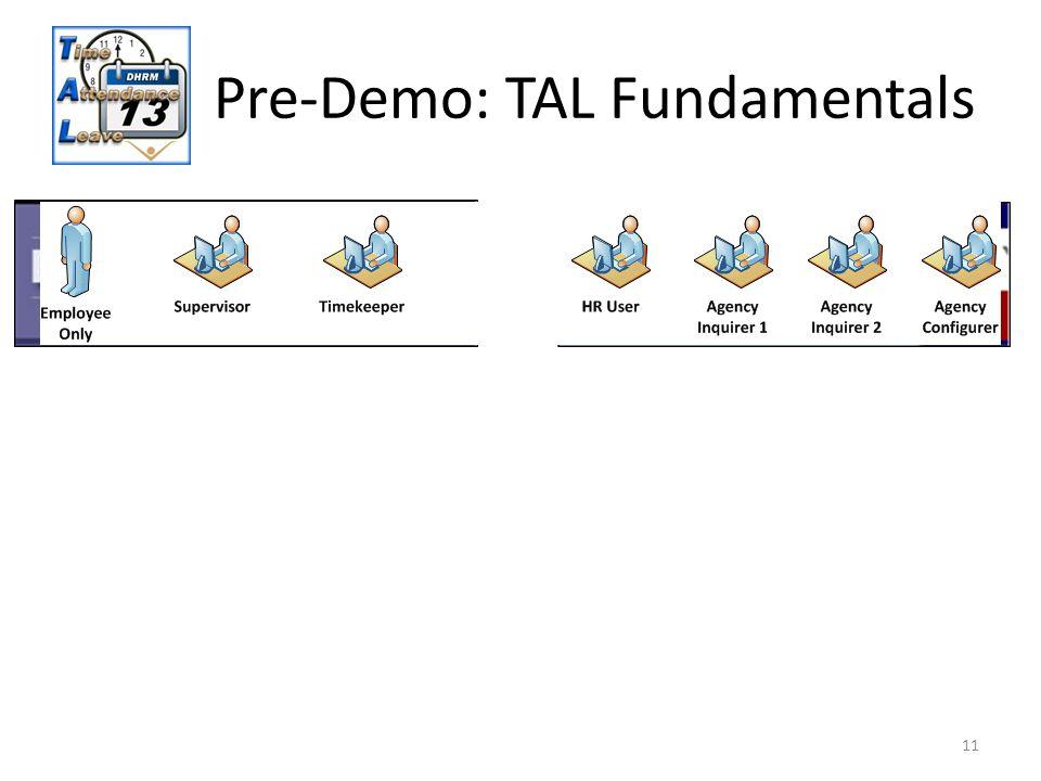 Pre-Demo: TAL Fundamentals 11