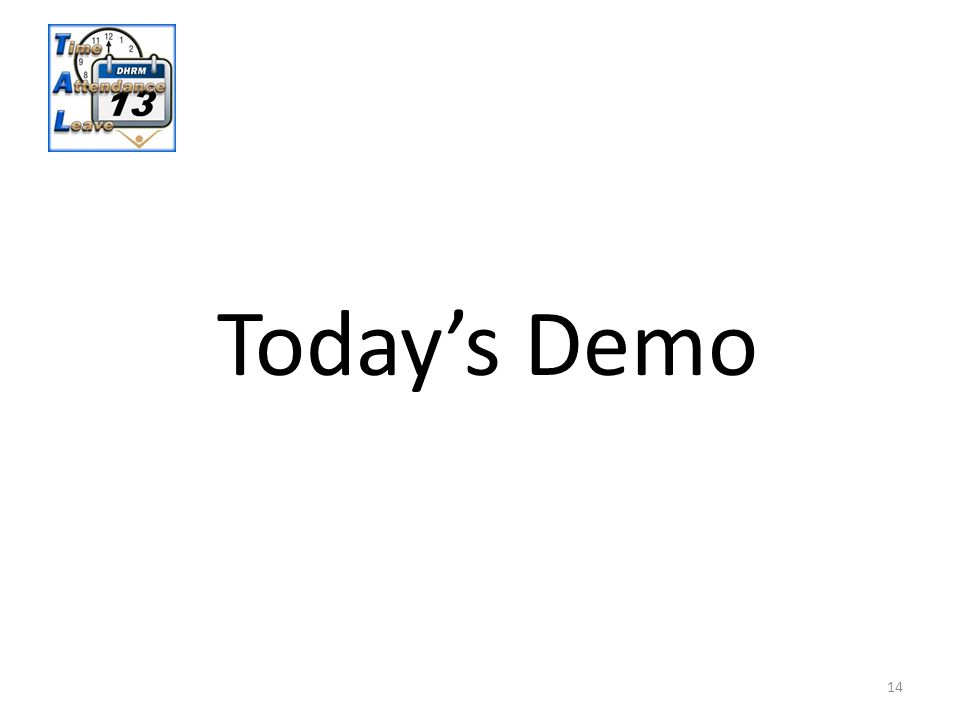 14 Today's Demo
