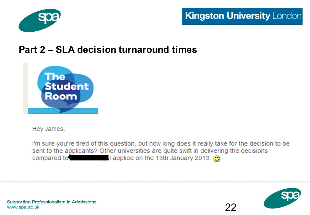Part 2 – SLA decision turnaround times 22