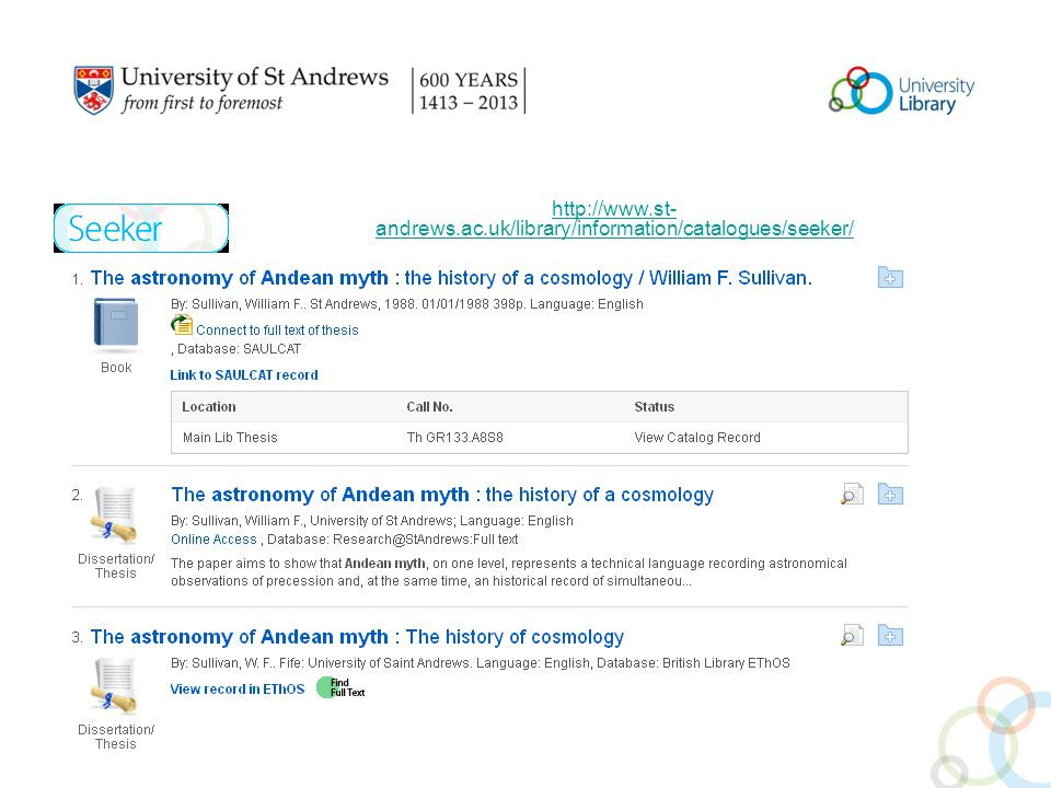 andrews.ac.uk/library/information/catalogues/seeker/