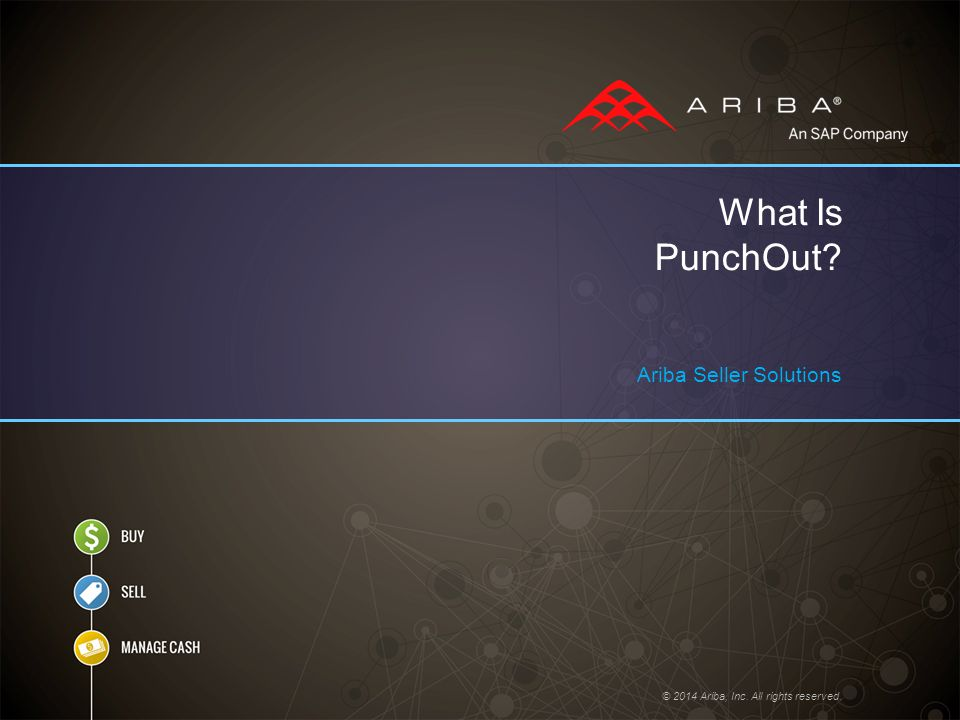 © 2014 Ariba, Inc. All rights reserved. What Is PunchOut? Ariba Seller Solutions