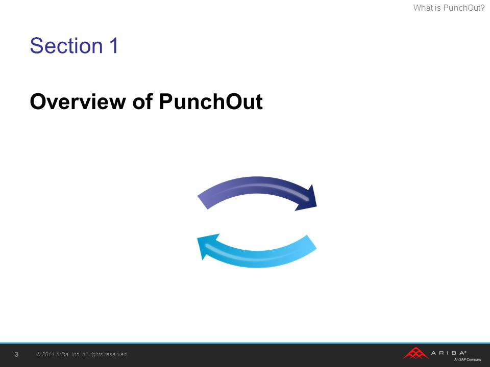 What is PunchOut? Section 1 Overview of PunchOut © 2014 Ariba, Inc. All rights reserved. 3