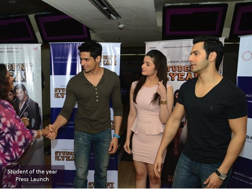 Student of the year Press Launch