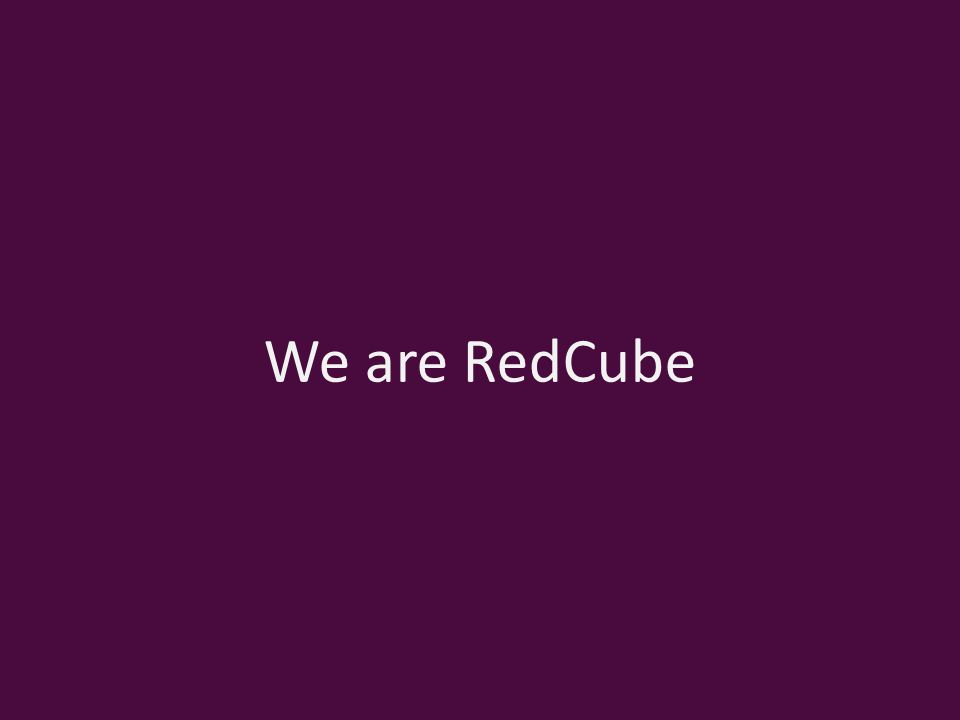 We are RedCube