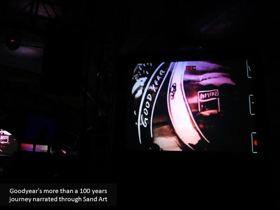 Goodyear's more than a 100 years journey narrated through Sand Art
