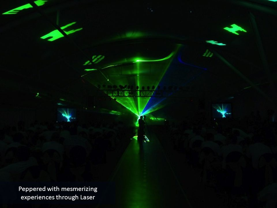 Peppered with mesmerizing experiences through Laser