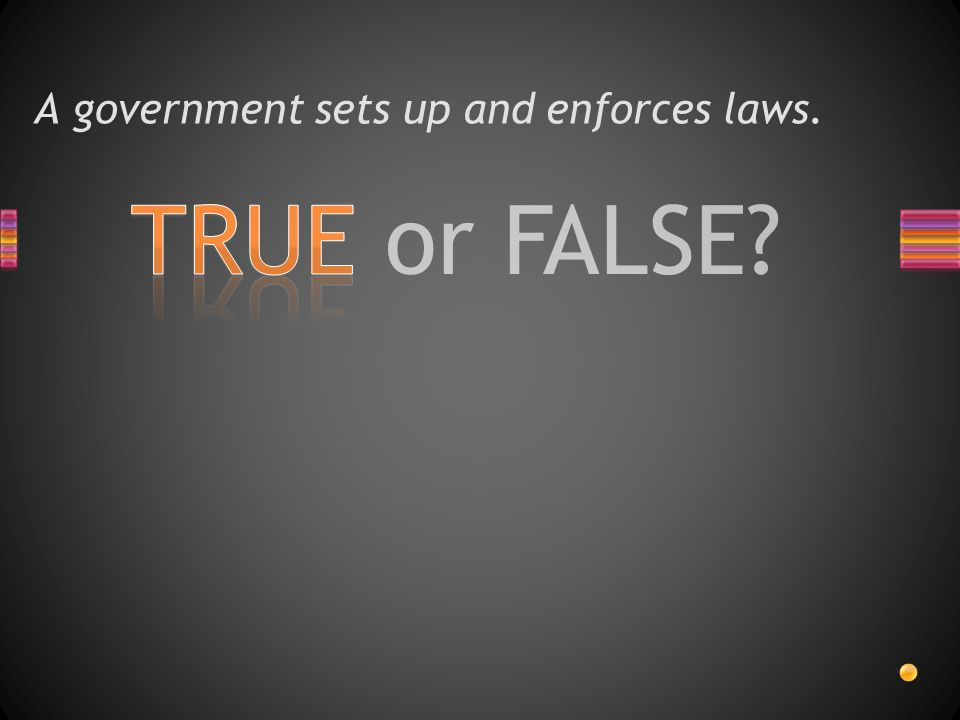TRUE or FALSE? A constitution is a set of laws.