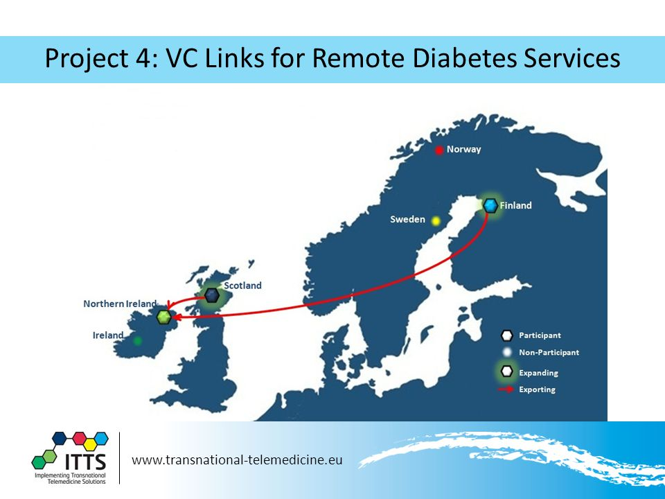 www.transnational-telemedicine.eu Project 4: VC Links for Remote Diabetes Services