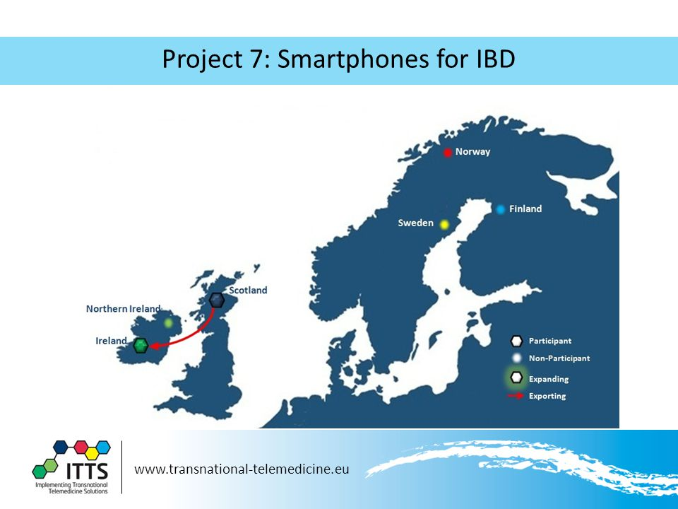 www.transnational-telemedicine.eu Project 7: Smartphones for IBD