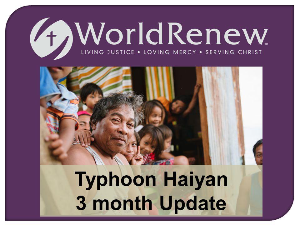 Typhoon Haiyan 3 month Update