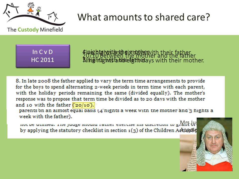 What amounts to shared care.
