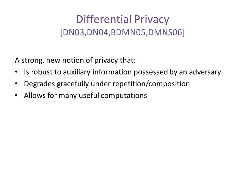 Computational Differential Privacy: When can it Help.