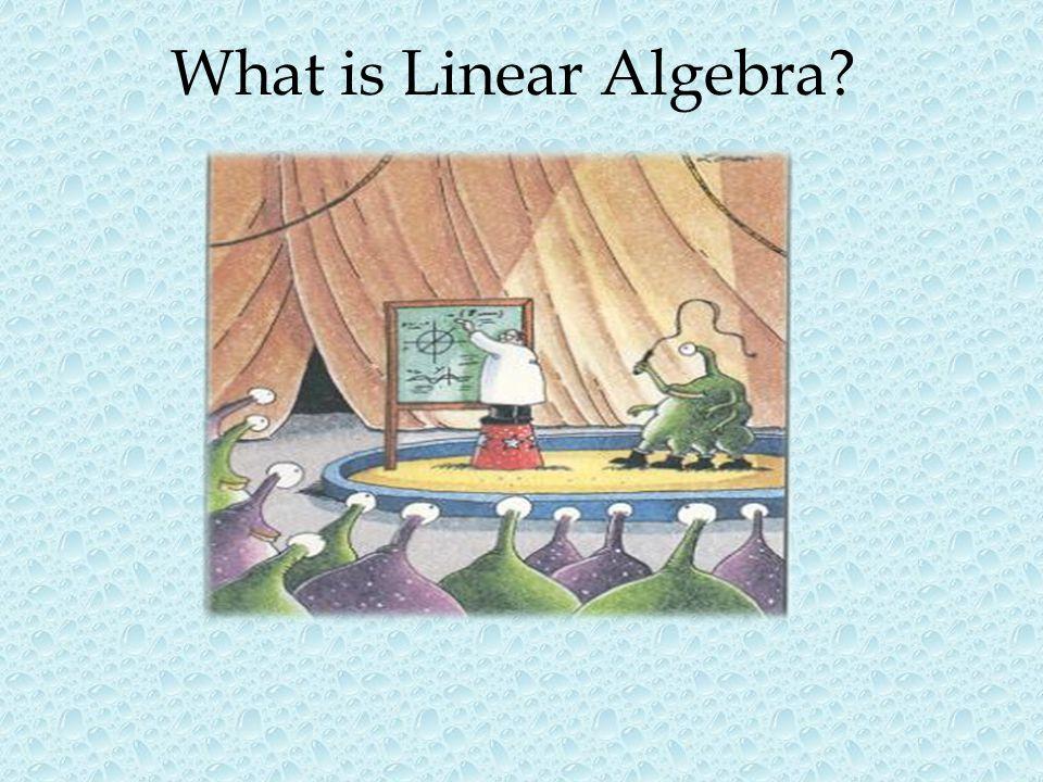 What is Linear Algebra?