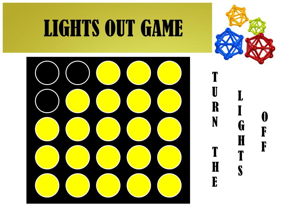 TURNTHETURNTHE LIGHTSLIGHTS OFFOFF