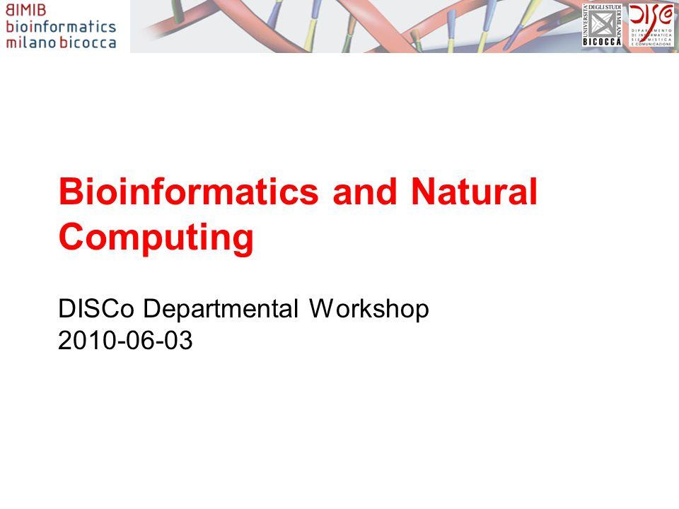 Bioinformatics and Natural Computing DISCo Departmental Workshop 2010-06-03