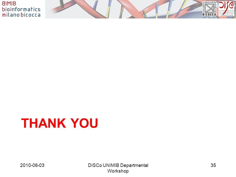 THANK YOU 2010-06-03DISCo UNIMIB Departmental Workshop 35