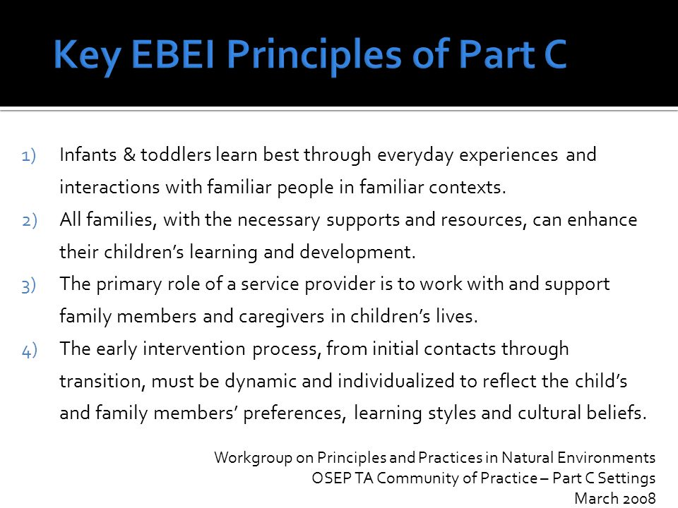 What have we learned about the current Part C EI Landscape in Ohio?