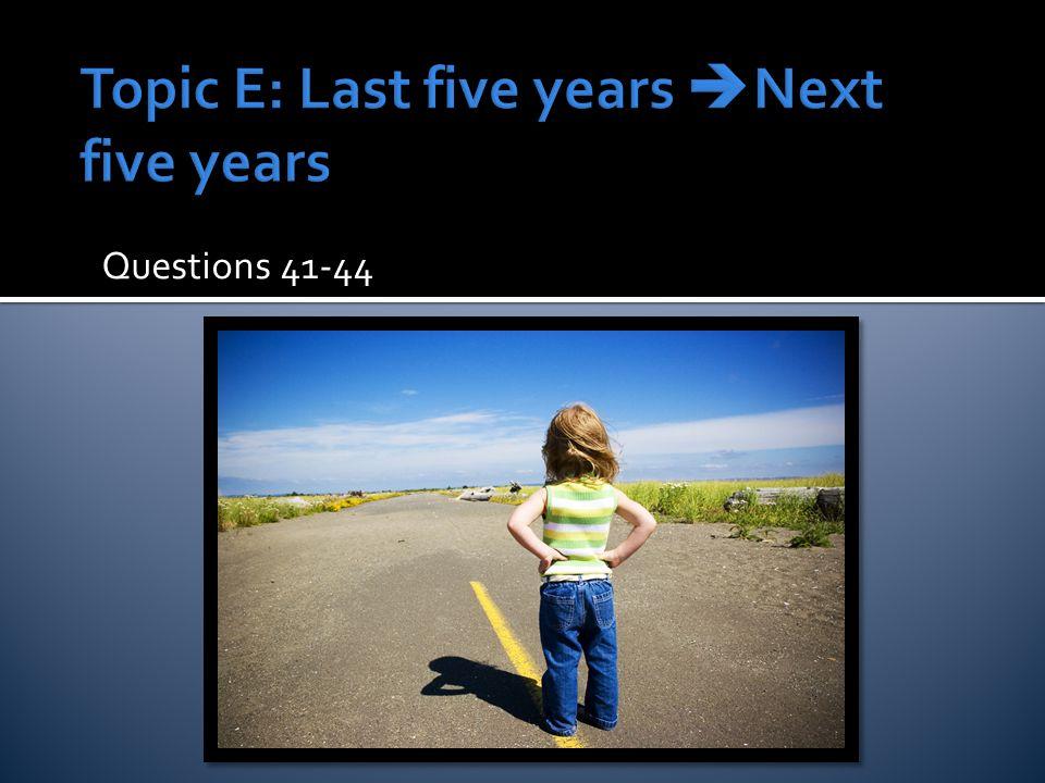 Questions 41-44