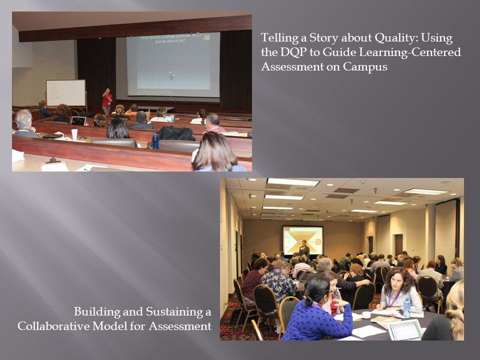 Telling a Story about Quality: Using the DQP to Guide Learning-Centered Assessment on Campus Building and Sustaining a Collaborative Model for Assessment