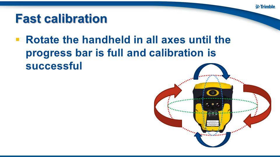  Rotate the handheld in all axes until the progress bar is full and calibration is successful Fast calibration