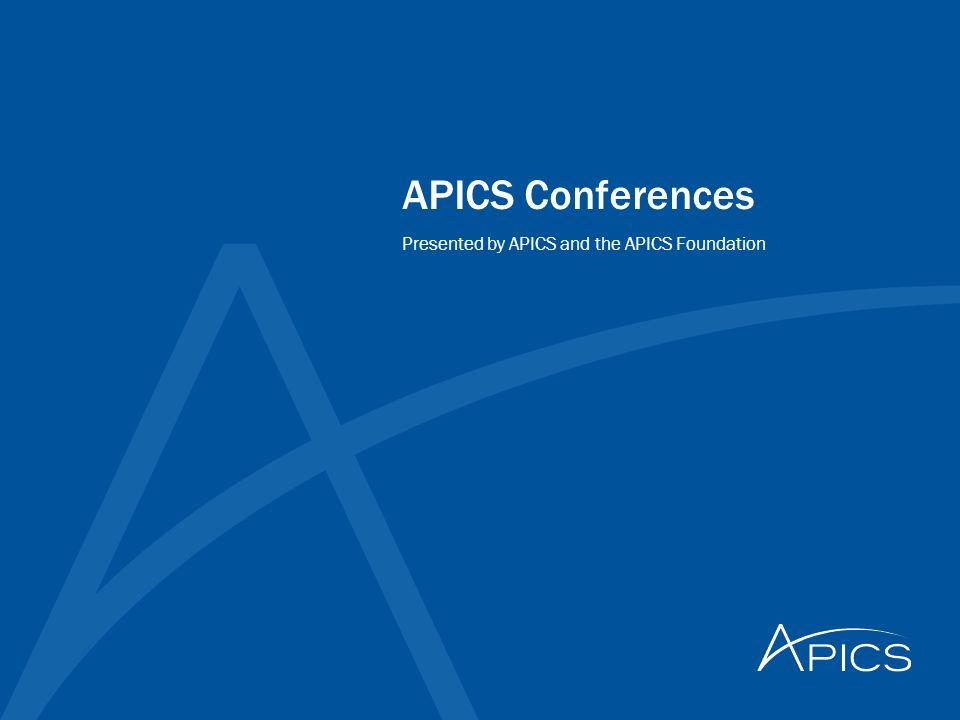 APICS 2014 October 19 – 21, 2014 Ernest N.