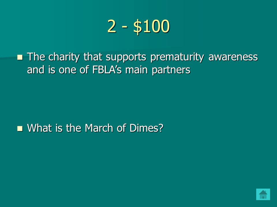 1 - $500 Where and when the first high school FBLA chapter was chartered Where and when the first high school FBLA chapter was chartered What is Johns