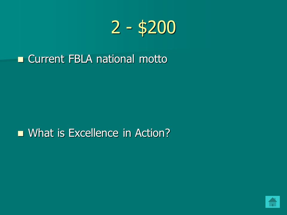 4 - $200 The 3 major competitive and/or networking events for members sponsored by NJ FBLA The 3 major competitive and/or networking events for members sponsored by NJ FBLA What are the State Fall Leadership Conference, the Regional Competitive Events, and the State Leadership Conference.