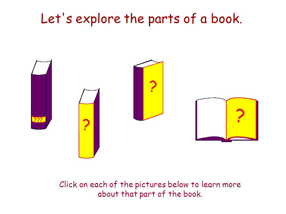Who Am I.Do you know the parts of a book. Play Who Am I and see.