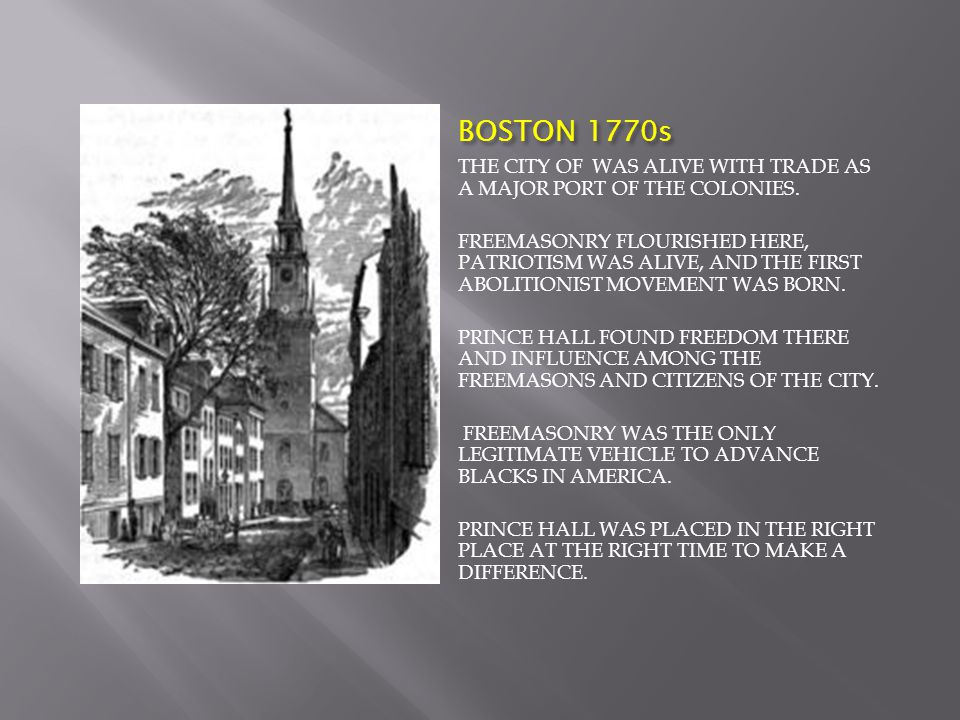 BOSTON 1770s THE CITY OF WAS ALIVE WITH TRADE AS A MAJOR PORT OF THE COLONIES.