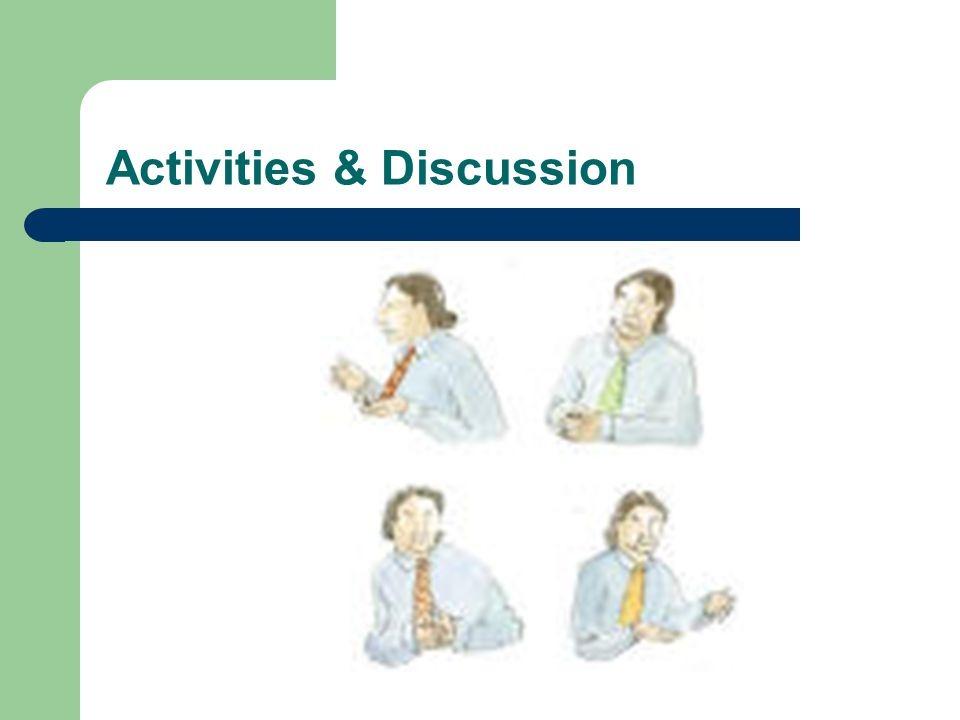 Activities & Discussion