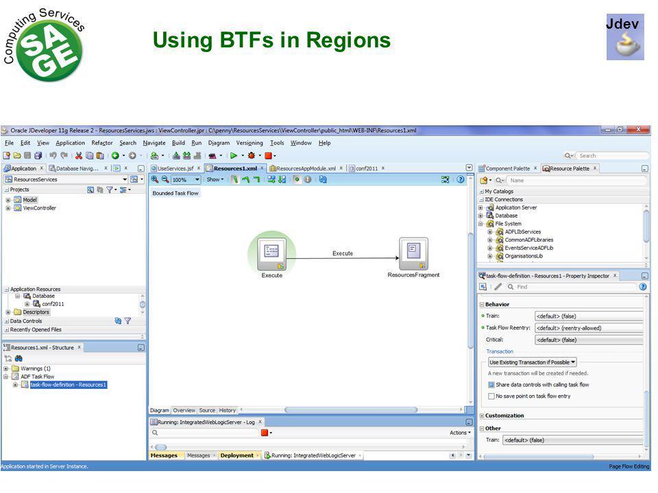 Using BTFs in Regions Jdev