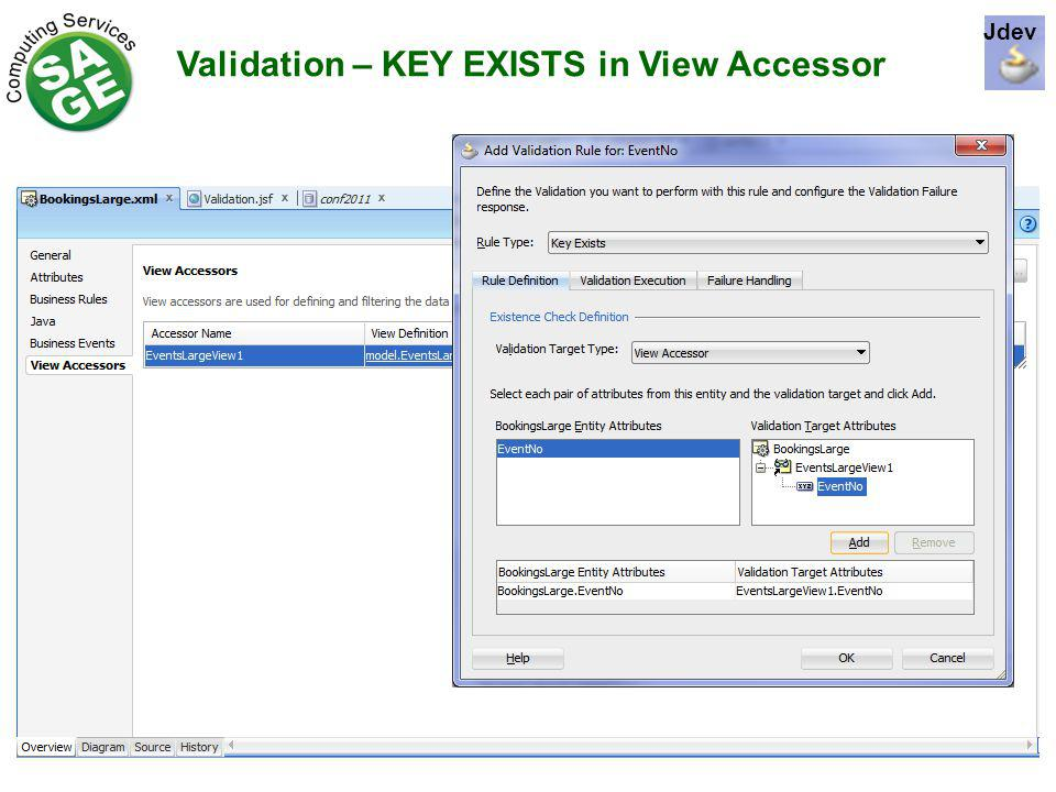 Validation – KEY EXISTS in View Accessor Jdev