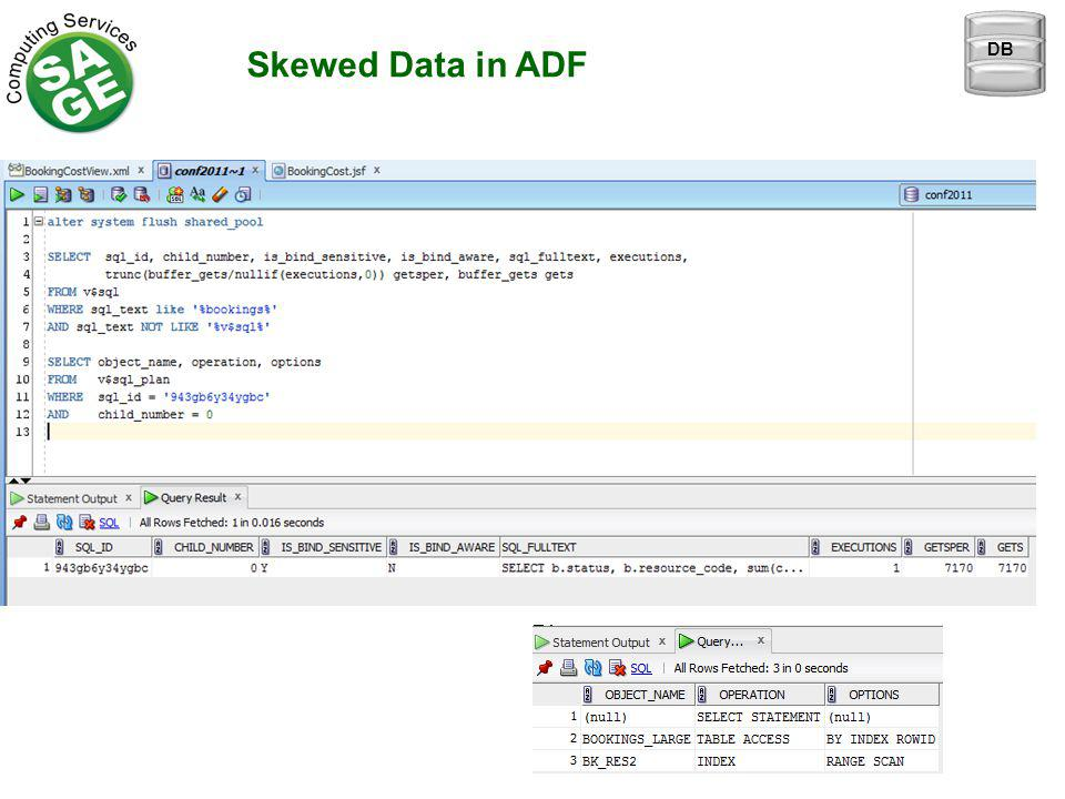 Skewed Data in ADF DB