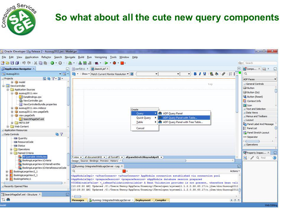 So what about all the cute new query components