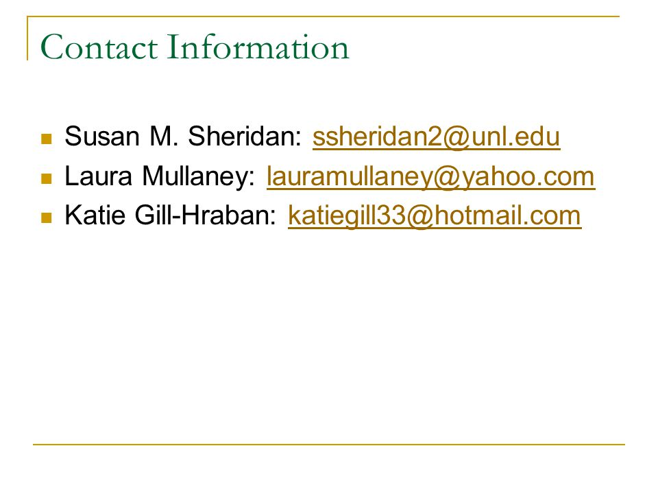 Contact Information Susan M.
