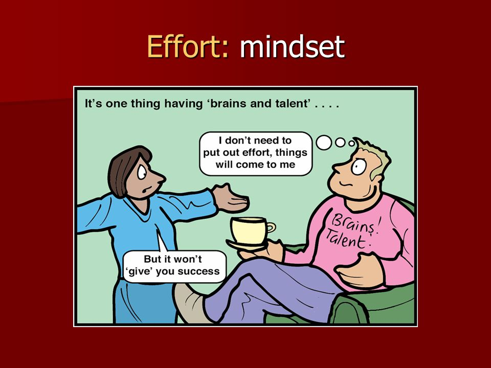 Effort: mindset