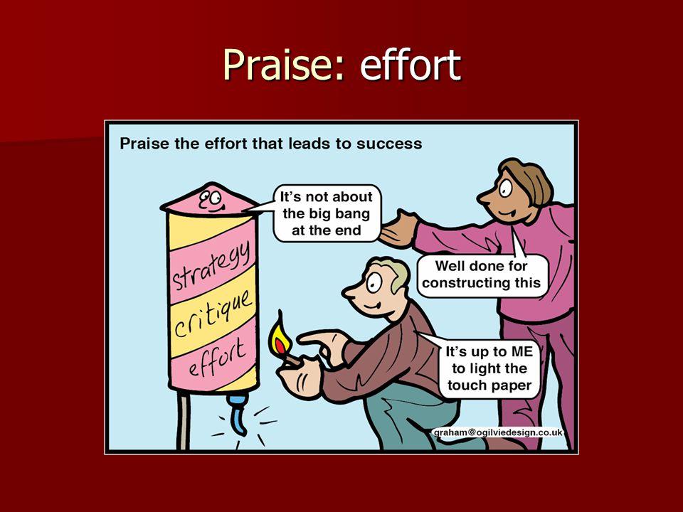 Praise: effort