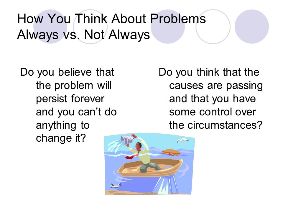 How You Think About Problems Always vs.