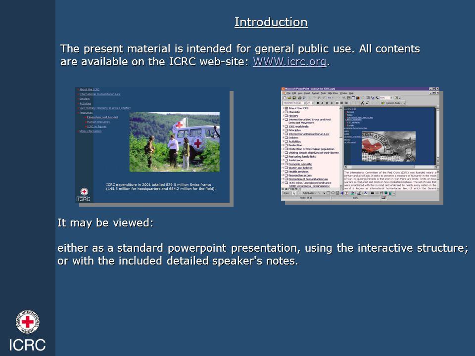 It may be viewed: either as a standard powerpoint presentation, using the interactive structure; or with the included detailed speaker's notes. The pr