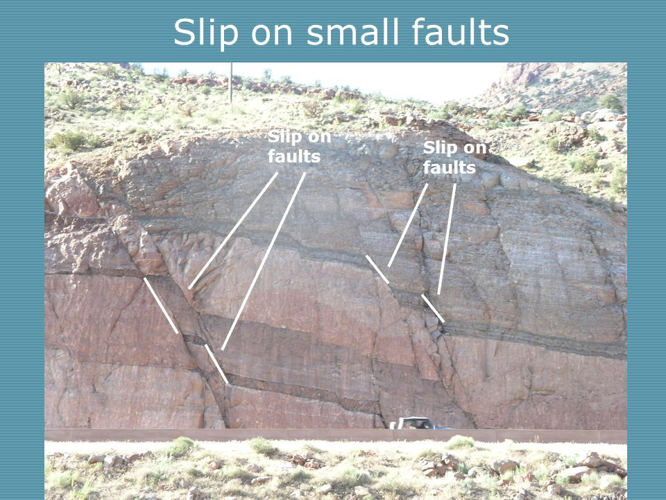 Slip on small faults Slip on faults