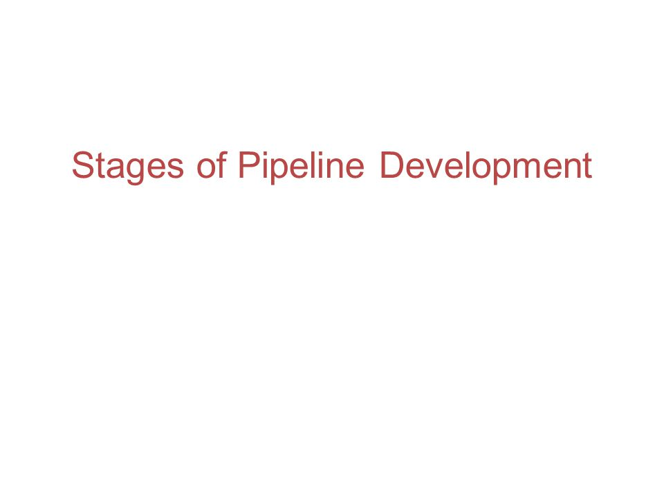 Stages of Pipeline Development