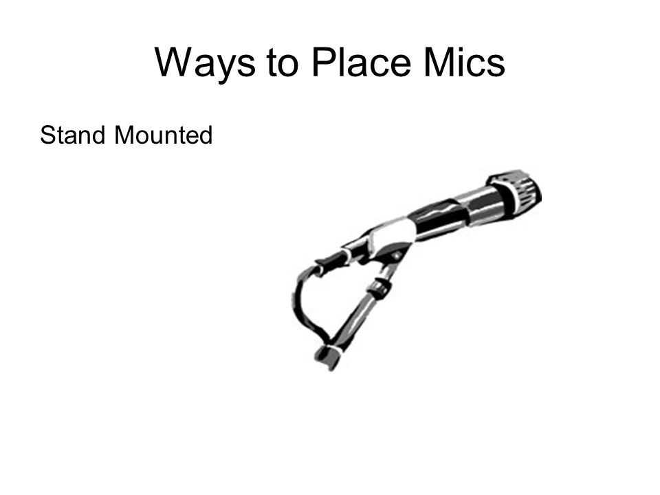 Ways to Place Mics Stand Mounted