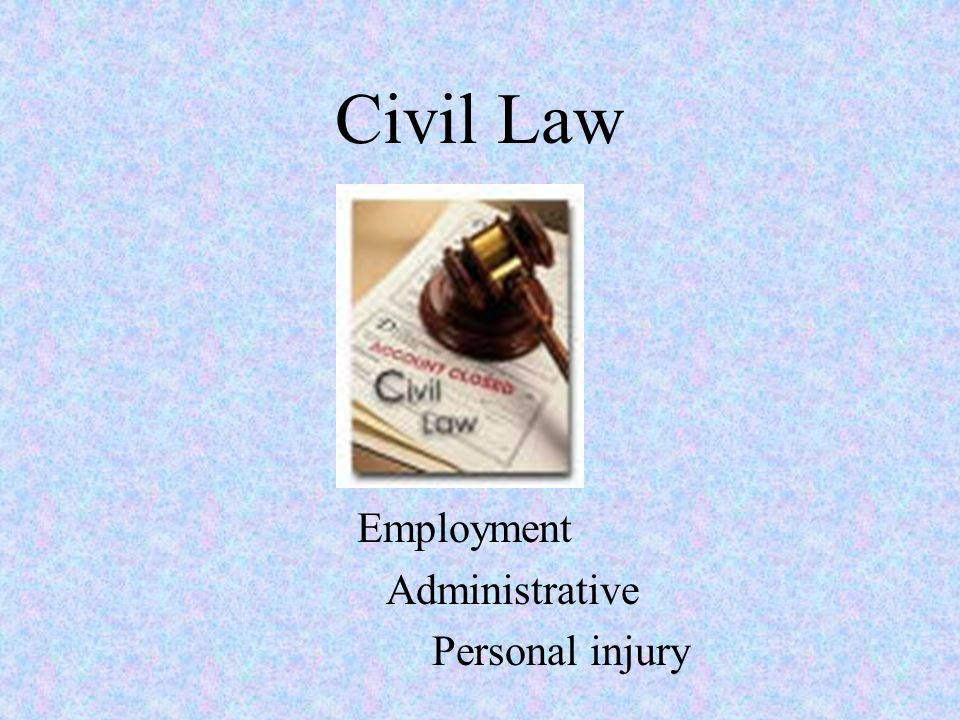Civil Law Employment Administrative Personal injury