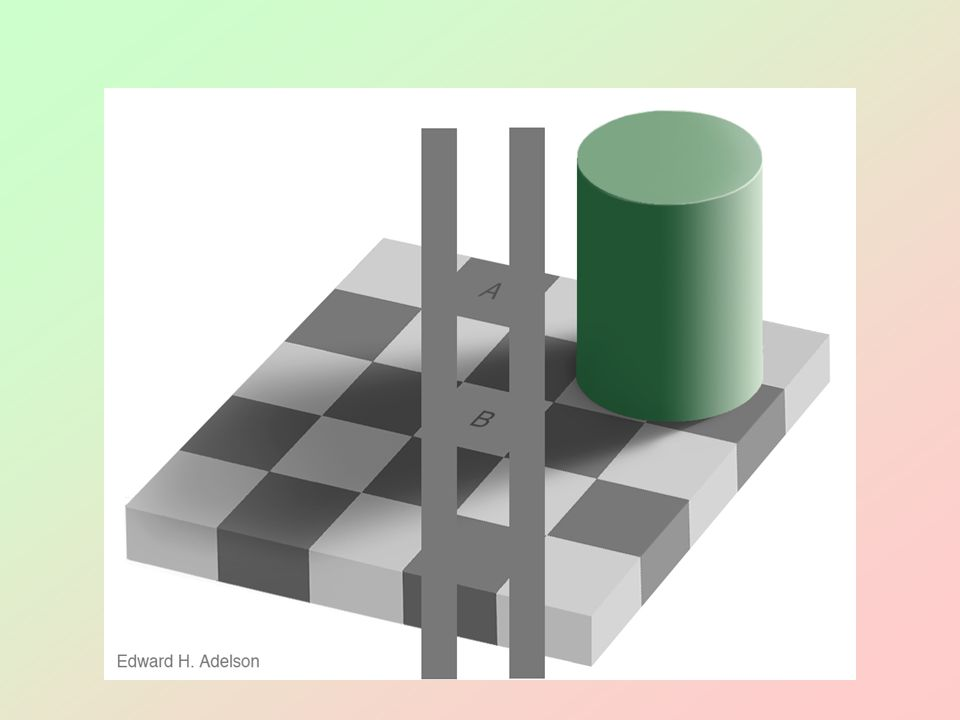 Are squares A and B the same shade of gray