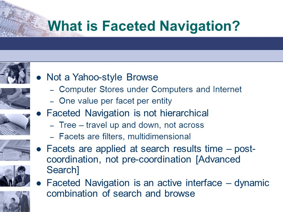 What is Faceted Navigation.