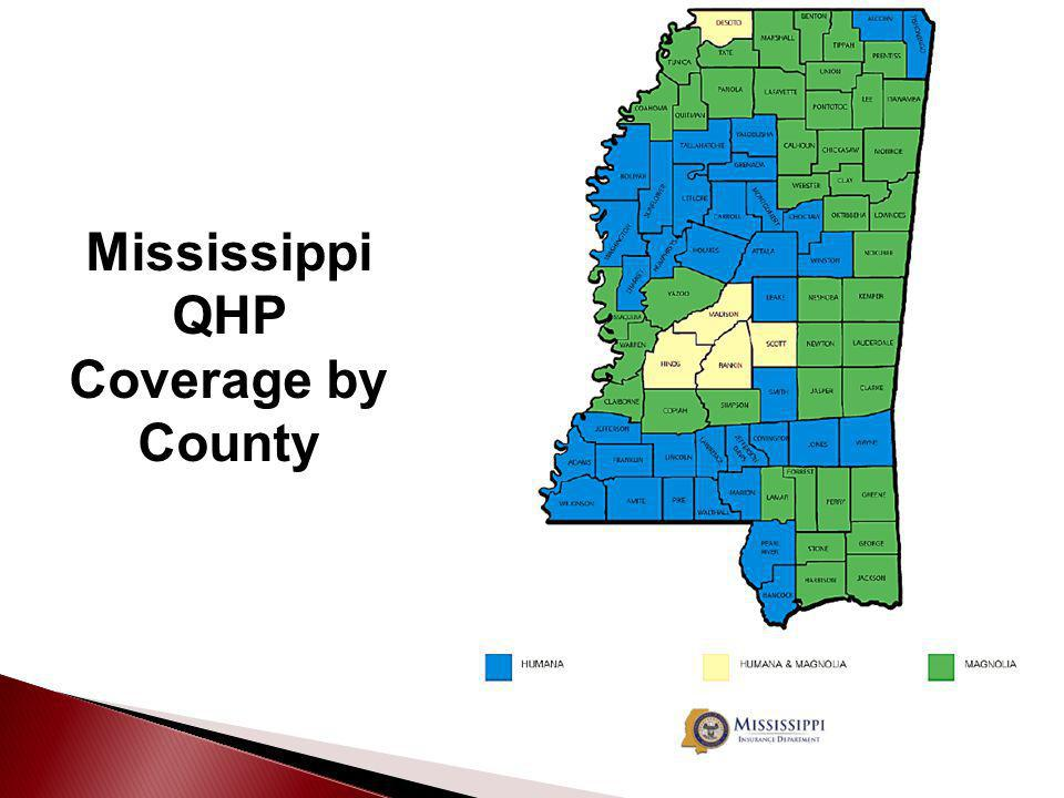 Mississippi QHP Coverage by County